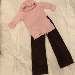 Girls pink brown outfit